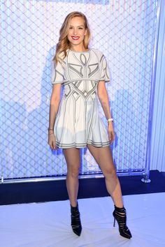 Pin for Later: These Stars Didn't Play Around When It Came to Their Fashion Week Outfits Petra Nemcova At Herve Leger.