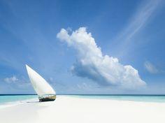 Maldives, beach, Indian Ocean, ocean, sailboat, cloud, travel, adventure, holiday, wanderlust photography