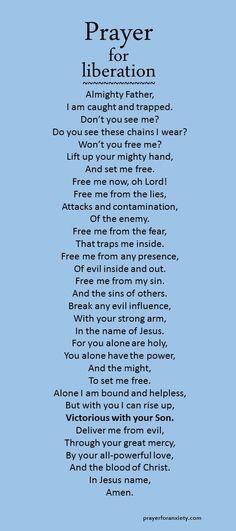 Prayer for liberation