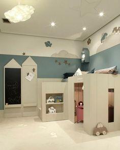 Habitacion compartida con zona de juegos de Dijous - Mamidecora.com