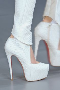 beautiful exotic louboutins - from mugler's runway show #shoeporn