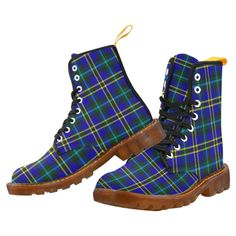 Tartan Boot – Rollo Modern Martin Boot – Your Tartan Clan Macdonald, Campbell Clan, Floral Combat Boots, Large Leather Tote Bag, Doc Martens Boots, Martin Boots, Timberland Boots, Tartan, Hiking Boots