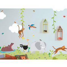 Sticker Elefante de la Selva 2 láminas
