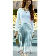 Item:Skirt  | Reine |  +962 798 070 931 ☎+962 6 585 6272  #Reine #BeReine #ReineWorld #LoveReine  #ReineJO #InstaReine #InstaFashion #Fashion #Fashionista #FashionForAll #LoveFashion #FashionSymphony #Amman #BeAmman #Jordan #LoveJordan #ReineWonderland #Skirt #MidiSkirt #60sSkirt