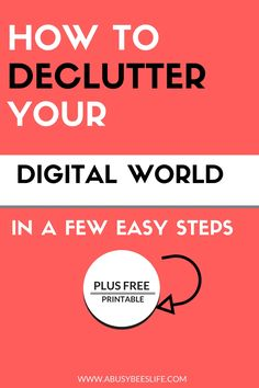 If you are like me, then your email is filled with at least 50% of emails that you could do without. Newsletters, ads, subscriptions. Phones and computers filled with apps you no longer use. Click here to declutter your digital world in a few easy steps. via @abusybeeslife