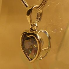 Elegant Mystic Blue Sweat Heart Pendent. by Royal Calypso Home on Opensky