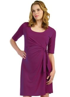 e6f5b9e2596b7 Japanese Weekend Adjustable Maternity Dress in Solid available at Izzy  Maternity. Dresses For Work,