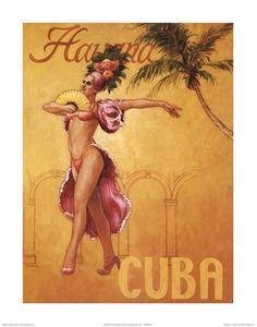 Havana - Cuba ~ Fine-Art Print - Vintage Travel Art Prints and Posters - Vintage Travel Pictures Vintage Cuba, Vintage Art, Havana Nights Party Theme, Cuba Art, Cuban Culture, Retro Poster, Poster Vintage, Print Poster, Kunst Poster