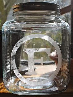 glass etched cookie jars - Google Search