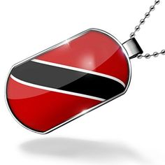 Dogtag Trinidad and Tobago Flag Dog tags necklace - Neonblond by NEONBLOND -- Awesome products selected by Anna Churchill