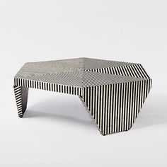 Bone Inlaid Faceted Coffee Table | west elm