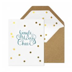 Sugar Paper Gold Foil and Kraft Envelopes - super in love with these Christmas Cards.   http://sugarpaper.com/store/holiday-goods-c-58.html    Found via Oh So Beautiful Paper blog  - 2011 Holiday Card Round Up, Part 4