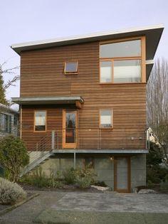 Simple siding. modern exterior by Jim Burton Architects