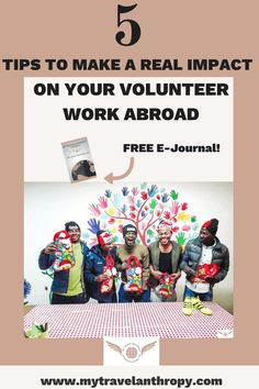 5 Tips to Make a Real Impact on Your Volunteer Work Abroad. Working Abroad can be intimidating, but don't worry, you can really make an impact with volunteering abroad! Tips to find the best volunteer program will help you also make the most impact! - My Travelantrhopy #travelabroad #volunteerabroad Volunteer Programs, Volunteer Work, Volunteer Abroad, Travel Guides, Travel Tips, Work Abroad, Field Guide, Travel Scrapbook, Travel Abroad