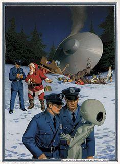 UFO and Santa meet! kn