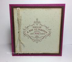 Stampin Up! Vintage Verses
