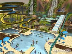 roller coaster tycoon 3 water park - Google Search