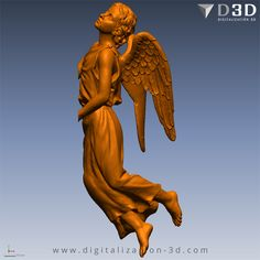 Detalle de las alas de ángel