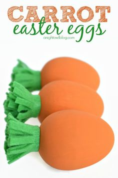 Adorable and easy DIY Carrot Easter Eggs #easter #eggs #carrot