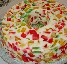 Jello Recipes, Cake Recipes, Dessert Recipes, Portuguese Desserts, Portuguese Recipes, I Love Food, Good Food, Yummy Food, Sweet Cakes
