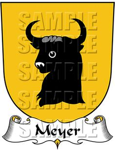 Meyer Family Crest apparel, Meyer Coat of Arms gifts