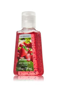 Fresh Strawberries - PocketBac - Bath & Body Works - Putting the short in Strawberry shortcake — this miniature must-have contains natural ingredients, like Tahitian Palm Milk, and powerful germ killers that keep hands fresh and clean on-the-go with the season's most loved scents!