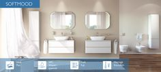 Design of Ideal Standard baths Pose Parquet, Ideal Standard, Living Styles, Oversized Mirror, Kitchen Design, Sweet Home, Bathtub, Furniture, Home Decor
