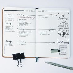 """537 Likes, 6 Comments - Hi, I'm Gigi! (@the.bullet.journey) on Instagram: """"New weekly layout! trying out something different in the new #bujo cause... why not? """""""