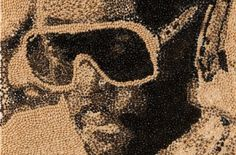 Black-Eyed Peas artist Will-i-am mosaic portrait made with black-eyed peas