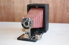 Antique Eastman Kodak Premoette Camera 1909-1912, Vintage Kodak Folding Camera A1, Shabby Chic Camera Photo Prop, Antique Camera Home Decor