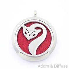 Fox Diffuser Locket Necklace