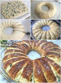Katmer Çiçek Çörek Tarifi, Nasıl Yapılır? - Yemek Tarifleri Sitesi - Oktay Usta - En Nefis Yemek Tarifleri Empanadas, Bagel, Doughnut, Picnic, Food And Drink, Bread, Cooking, Desserts, Recipes