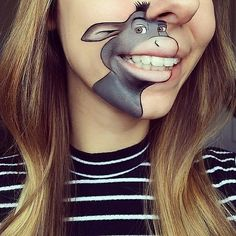 Cartoon lip art, London makeup artist Laura uses theatrical makeup and occasionally lipstick to create her portraits included the likes of Roger Rabbit London Makeup, Theatrical Makeup, Make Up Art, Fantasy Makeup, Lip Art, Costume Makeup, Creative Makeup, Face Art, Lip Makeup