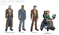 Some allies of the Bat-family Batman: Gotham Crusaders Allies Deadshot, Deathstroke, Young Justice Episodes, Cillian Murphy Scarecrow, Talia Al Ghul, Family Illustration, Dc Comics Characters, Batman Family, Dc Heroes