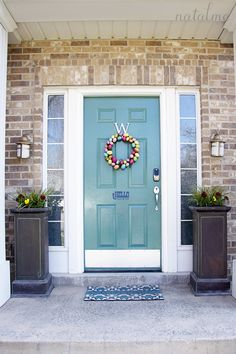 painted front door-- great info about the process and uv tip