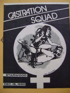 Castration Squad flyer (1980)