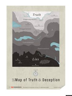 Map of Truth and Deception -- from The Huffington Post
