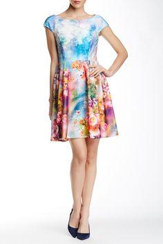 Floral Fit & Flare Scuba Dress by Betsey Johnson on @HauteLook