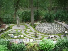 Merveilleux Spiritual Garden   A Project By AguaFina Gardens International LABYRINTH    Big Enough?
