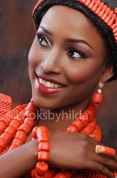 Looks by Hilda | Benin Edo Bridal Makeup | BellaNaija 008