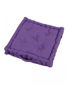 Cotton Purple Floor Cushion, 50 x 50 cm