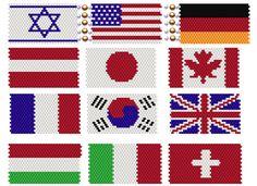 World Heritage Flag Set #1 | Bead-Patterns.com