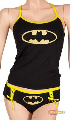 If there is one thing Batman is known for, its sexy underwear. If youve got a lovely lady at home or youre a lonely trucker on the road this Batman Cami and Panty Set is perfect. Plus cotton is w