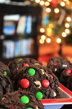 Dark Chocolate Peppermint M Cookies