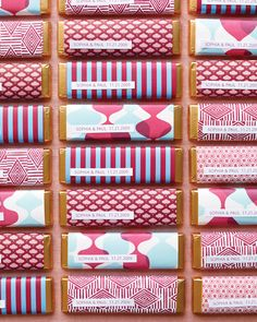 Favor-ful Presentations: Wrap your favorite candy bar in pretty printed papers.