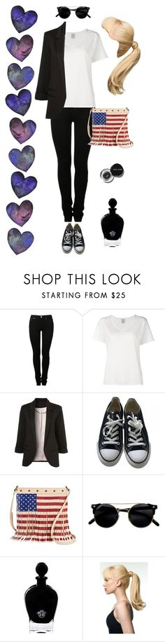 """""""#6"""" by irina-miller ❤ liked on Polyvore featuring MM6 Maison Margiela, Visvim, Converse, Twig & Arrow, Bobbi Brown Cosmetics, EB Florals and Toni&Guy"""