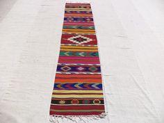"Colorful Kilim Rug Runner,8,4""x2"" Feet 254x60 Cm Turkish Kilim Rug Runner,Home Decor Anatolian Kelim Rug Runner."