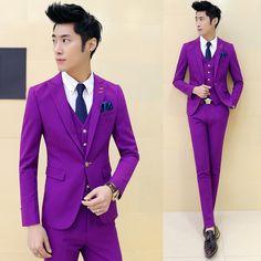 2017 Business Casual Suit Men Three Pieces Set Professional Formal Groom Wedding Dress Beautiful Design Men's Blazer suits #Affiliate
