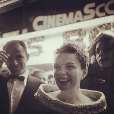 Frank Sinatra, Judy Garland, and Lauren Bacall at the Hollywood premiere of A Star Is Born (1954)
