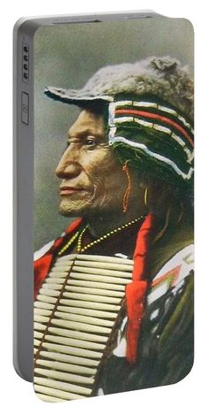 Chief Broken Arm Portable Battery Charger featuring the photograph Chief Broken Arm by The Griffin Passant